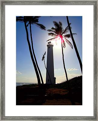 Oahu Lighthouse Framed Print