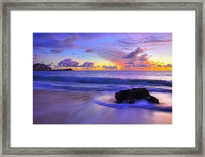 Oahu Sunrise Framed Print