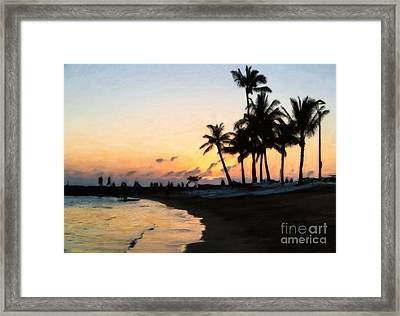Oahu Sunset Framed Print by Jon Burch Photography