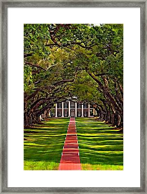 Oak Alley II Framed Print
