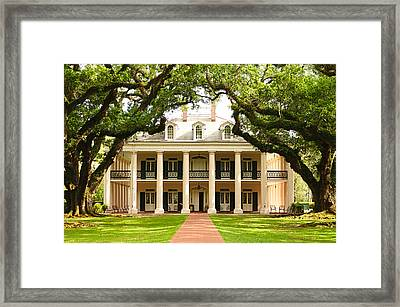 Oak Alley Mansion Framed Print