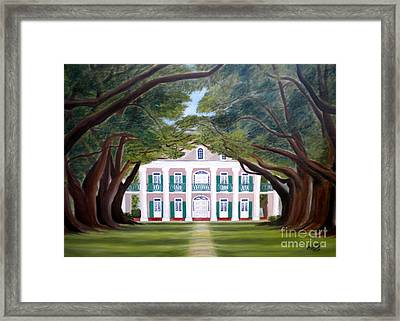 Oak Alley Framed Print by Mona  Stilson