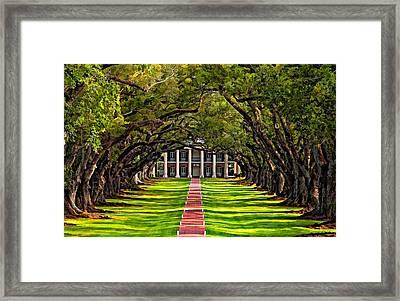 Oak Alley Paint  Framed Print by Steve Harrington