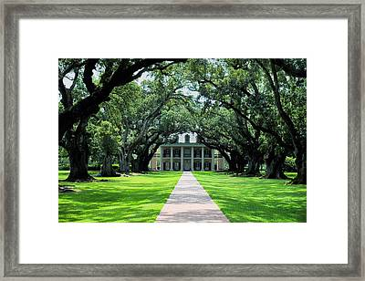 Oak Ally Plantation Framed Print by Ryan Burton