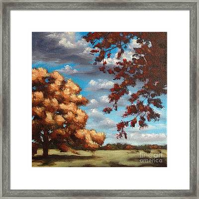 Oak At Fall Framed Print