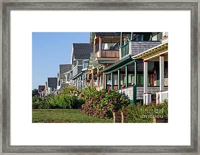 Oak Bluffs Cottages Framed Print