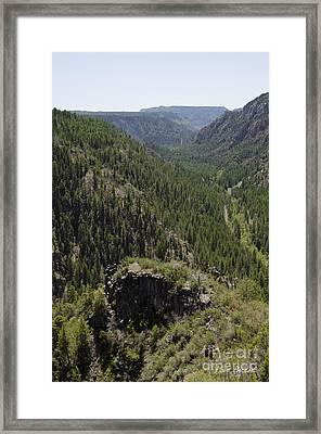 Oak Creek Canyon Overlook Framed Print by David Gordon