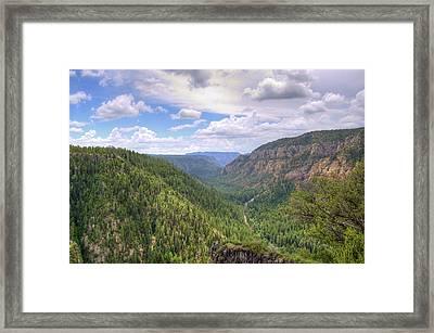 Oak Creek Canyon Framed Print by Ricky Barnard