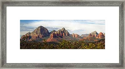 Oak Creek Canyon Sedona Pan Framed Print