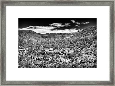 Oak Creek Clouds Framed Print by John Rizzuto