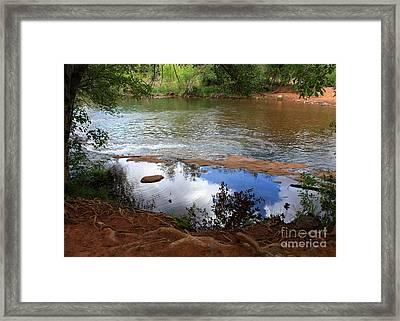 Red Rock Crossing Framed Print by Carol Groenen