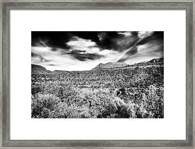 Oak Creek Depth Framed Print by John Rizzuto
