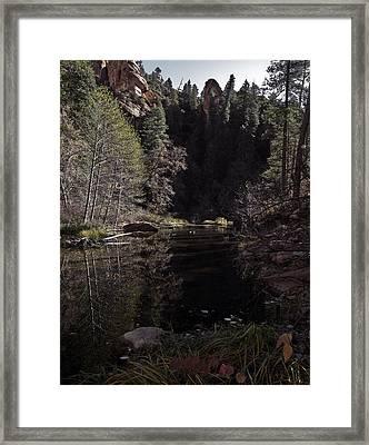 Oak Creek Shadows Framed Print by SEA Art