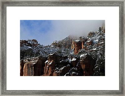 Framed Print featuring the photograph Oak Creek Vista Wc 9375 by Tom Kelly