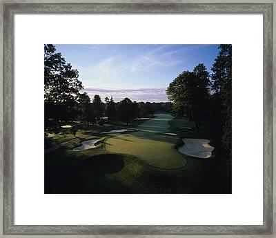Oak Hill C.c Framed Print by Stephen Szurlej