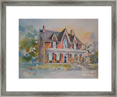 Oak Hill Cottage Framed Print
