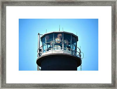 Oak Island Lighthouse Beacon Lights Framed Print by Sandi OReilly