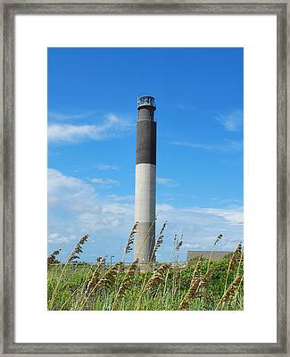 Oak Island Lighthouse Framed Print by Bob Sample
