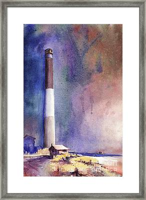 Oak Island Lighthouse Framed Print by Ryan Fox
