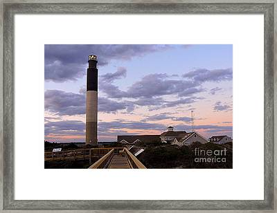 Oak Island Lighthouse From Caswell Framed Print