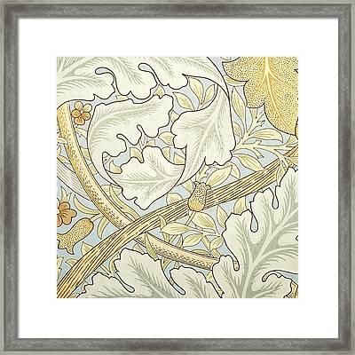 Oak Leaves Framed Print by William Morris