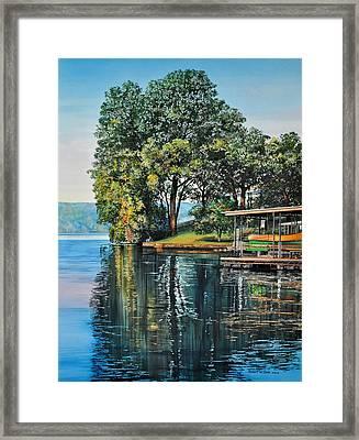Oak Point Framed Print