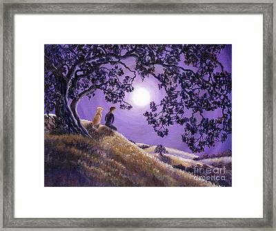 Oak Tree Meditation Framed Print by Laura Iverson