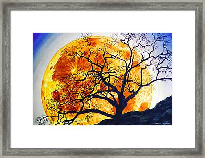Oak Tree Moonrise Framed Print by Douglas Castleman