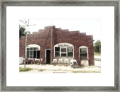 Oakhill Kansas Downtown Framed Print