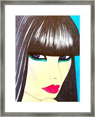 Blue Eyes Framed Print by Alesya Cabral