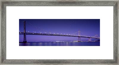 Oakland Bay Bridge Framed Print by Aged Pixel
