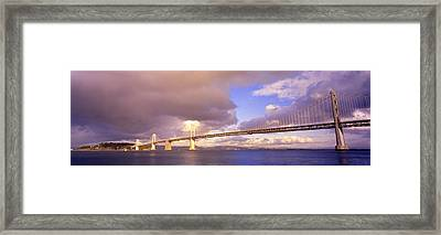 Oakland Bay Bridge San Francisco Framed Print by Panoramic Images