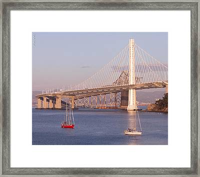 Oakland Bridge Framed Print