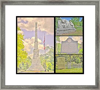 Oakland Cemetery Collage Framed Print