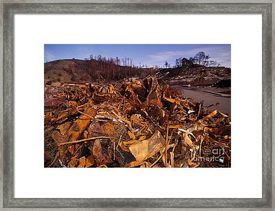 Oakland Fire Devastation Framed Print