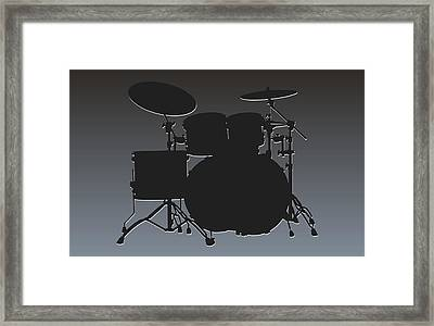 Oakland Raiders Drum Set Framed Print by Joe Hamilton