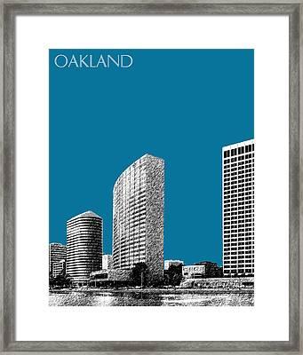 Oakland Skyline 2 - Steel Framed Print