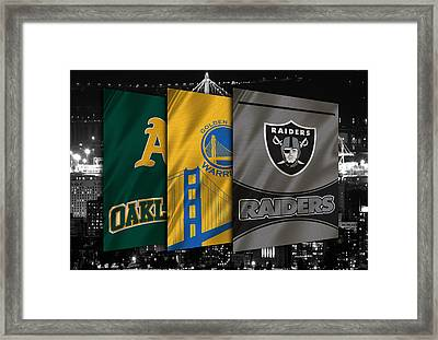 Oakland Sports Teams Framed Print by Joe Hamilton