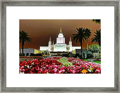 Oakland Temple 1 Framed Print