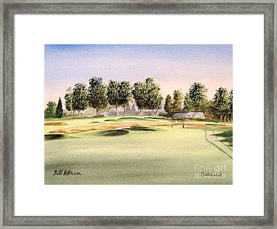 Framed Print featuring the painting Oakmont Golf Course 14th by Bill Holkham