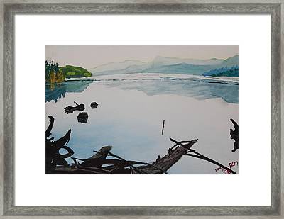 Oakridge Reservoir #1 Framed Print by Dawna Morton