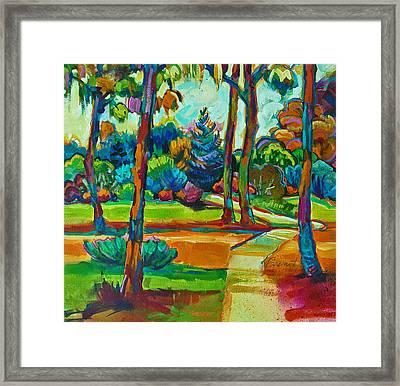 Oaks Landscape Detail Framed Print