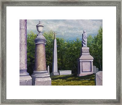 Framed Print featuring the painting Oakwood Cemetery Jefferson Texas by Lenora  De Lude