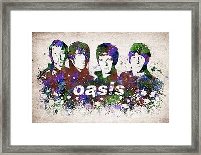 Oasis Portrait Framed Print by Aged Pixel