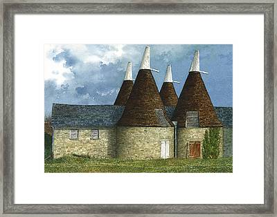 Oast Houses Framed Print by Tom Wooldridge