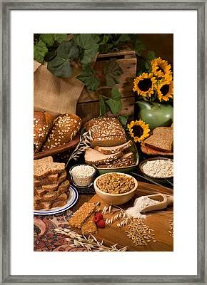 Oat And Barley Based Foods Framed Print