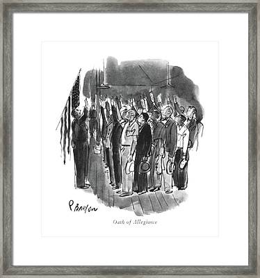 Oath Of Allegiance Framed Print by Perry Barlow