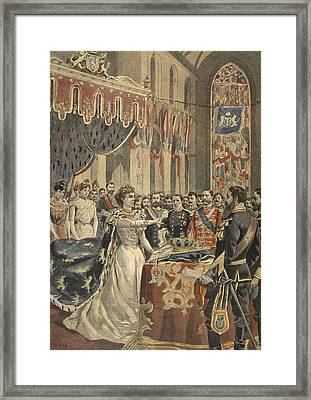 Oath Of Constitution Of Queen Wilhemina Framed Print