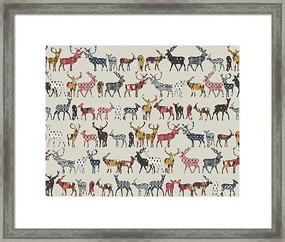 Oatmeal Spice Deer Framed Print by Sharon Turner