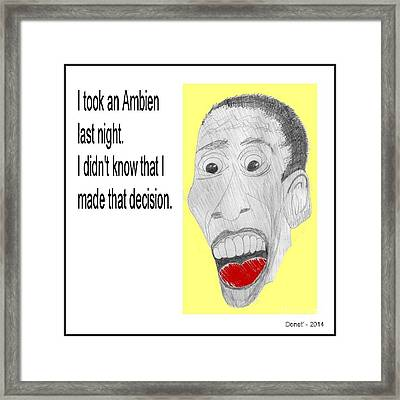 Bo And His Ambien Framed Print by Donna Daugherty